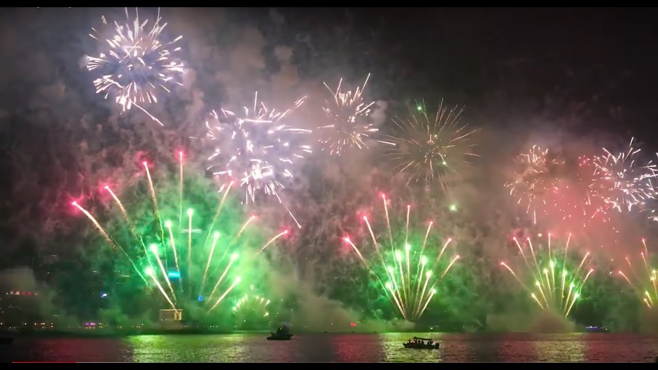 HongKong 2018 New Years fireworks. Full vertion. Новогодний салют 2018 в Гонконге.