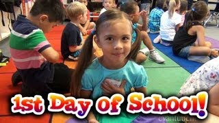 FIRST DAY OF SCHOOL!  Jillian goes to Kindergarten!  How to Tie Your Shoes!