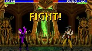 Ultimate Mortal Kombat 3 (Genesis) - Longplay as Rain