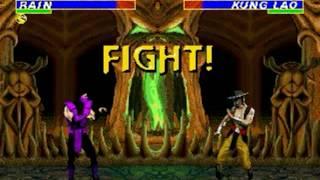 Ultimate Mortal Kombat 3 (Genesis) - Longplay as Rain