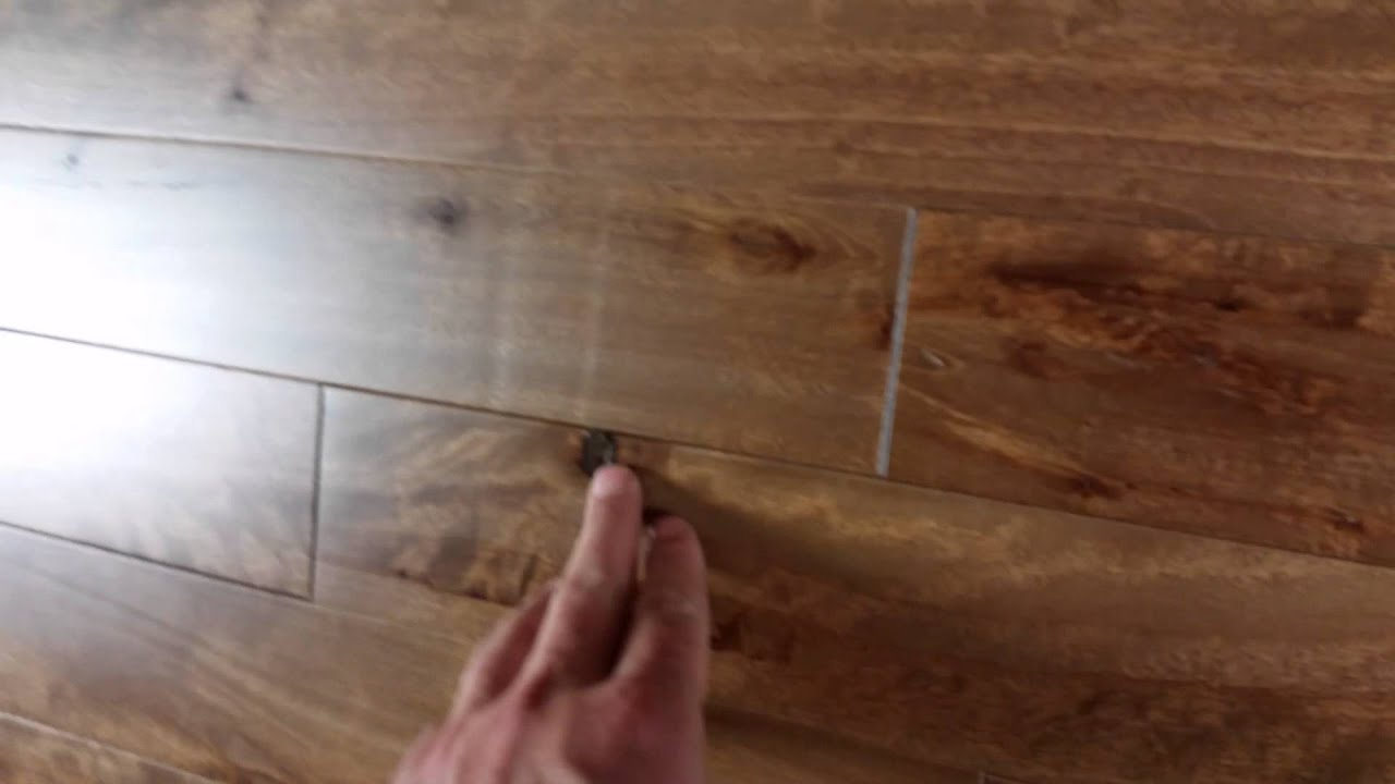 Beau Northern Birch Hardwood Flooring Cabin Grade   Sierra Stain   YouTube