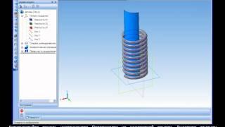 Построение 3D модели пружины растяжения в Компас 3D