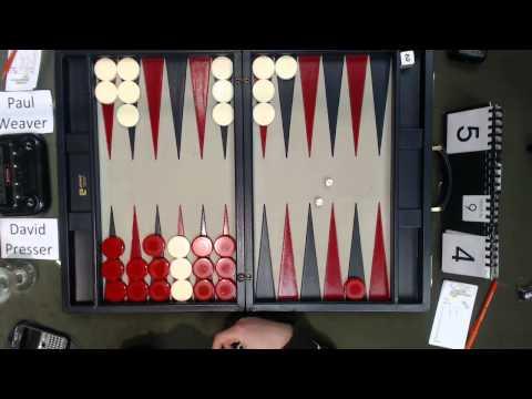 Carolina Backgammon R5 Paul Weaver v David Presser