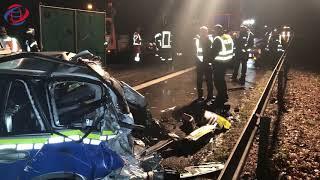 Polizistin bei Horrorunfall auf der Autobahn getötet