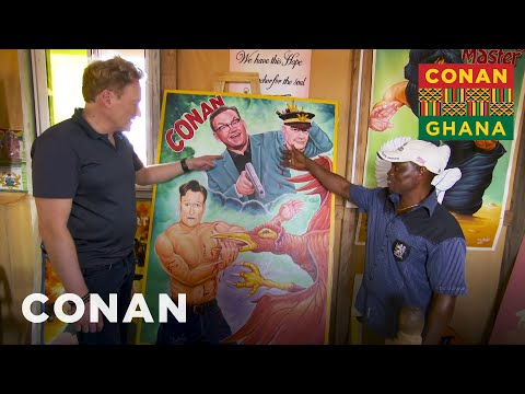 Conan Brings His Ghanaian Movie Poster To Life - CONAN on TBS