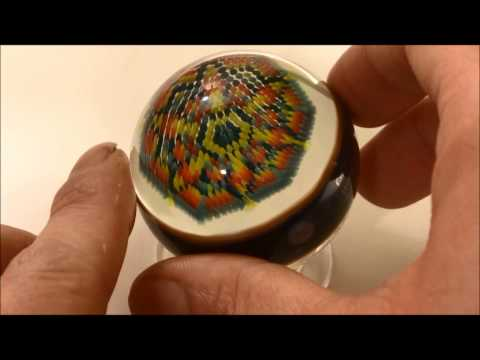 Glass Marble by Robin Moore (47mm, 631 Colorful Dots)
