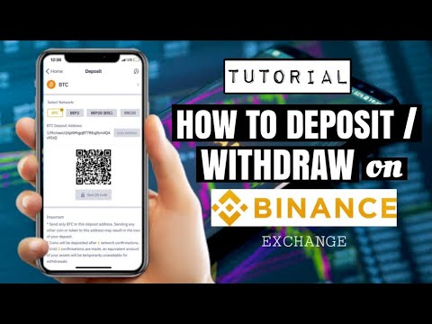 How To DEPOSIT Or WITHDRAW On BINANCE EXCHANGE | Bitcoin And Crypto App Tutorial