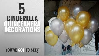 Top 10 Cinderella Quinceanera Decorations [2018]: AnnoDeel 50 PCS 12inch Balloons, Gold balloons
