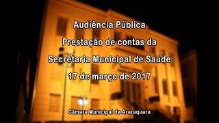 Prestação de Contas da Secretaria Municipal de Saúde - 3º quadrimestre 2016