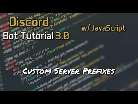 Discord Bot Tutorial 3 0 - Custom Server Prefixes [10] - YouTube