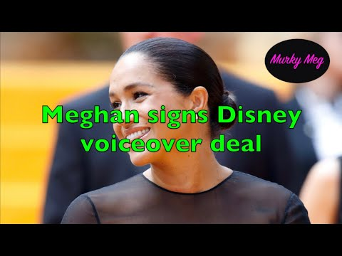 Meghan Markle signs Disney voiceover deal