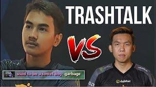 TRASHTALK - InyourdreaM Tinker vs Mushi ex-teammate 7.07 | Dota 2