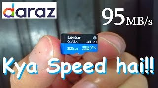Unboxing And Reviewing Lexar 633x Micro SD Memory Card From Daraz.pk [Urdu/Hindi]
