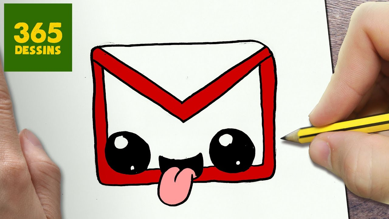 Comment Dessiner Logo Gmail Kawaii étape Par étape Dessins Kawaii Facile