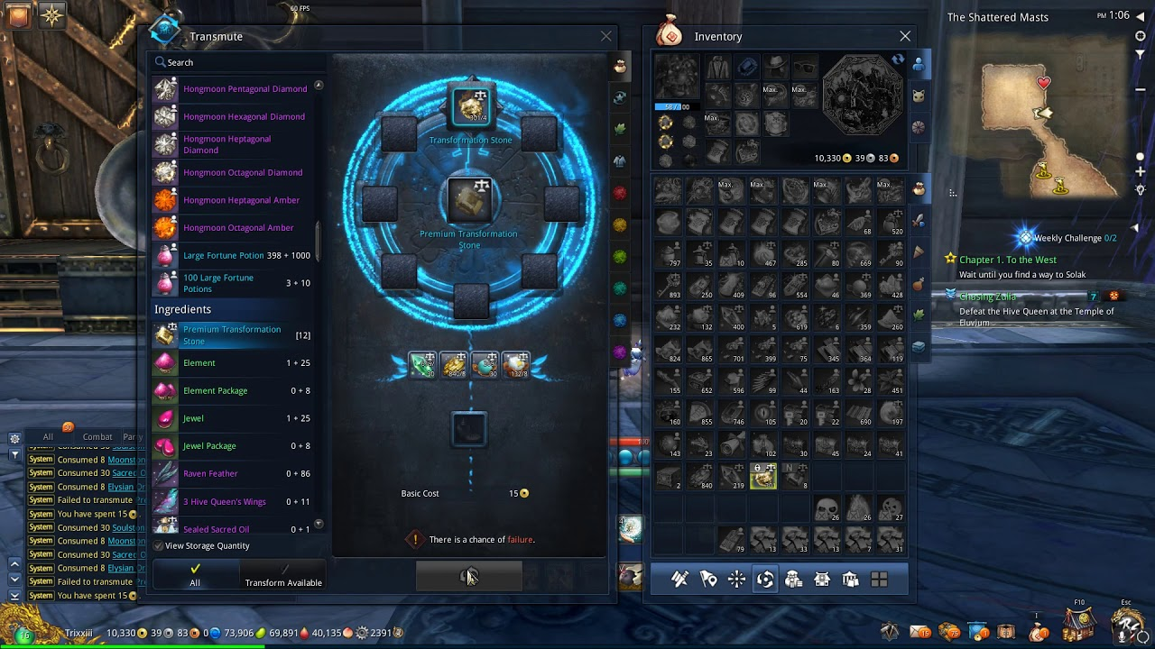 Blade and Soul ~ Crafting Premium Transformation Stones