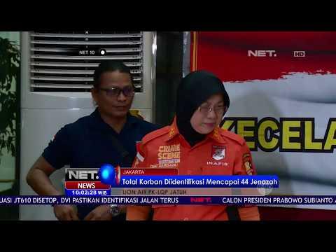 17 Jenazah Korban Lion Air JT 610 Berhasil Diidentifikasi Tim DVI   NET10 Mp3