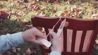 How to Carve a Net Needle and Weave a Survival Gill Net