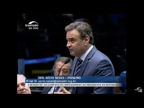 Aécio Neves - Resposta à senadora Gleisi Hoffmann - 30/08/2016