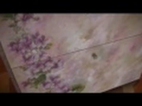 Decoupage su legno scarpieta tutorial passo passo youtube