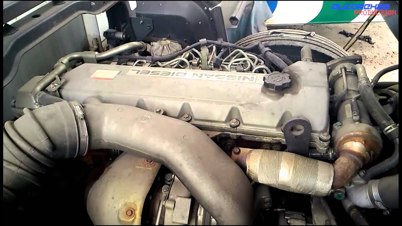 UD(Nissan Diesel) J08E by Hino Engine View - YouTube