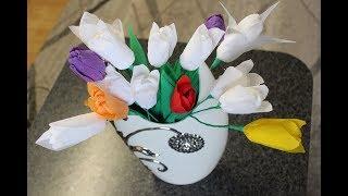 DIY Tulpen aus Krepp-papier/ DIY Crepe Paper Tulips