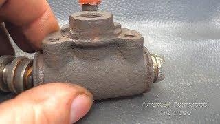 Ремонт потекшего заднего тормозного цилиндра ВАЗ, замена манжет на не родные