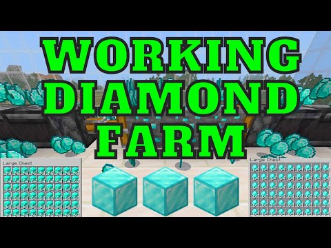 Working Diamond Farm For Minecraft Bedrock Edition 1.16.201 For Ps4, Xbox, MCPE, Windows 10, Switch!