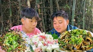 AUTHENTIC MANIPURI NGATEK NGANOU THONGBA & YONGCHAK SINGJU MUKBANG | with recipe | Meitei Mukbang