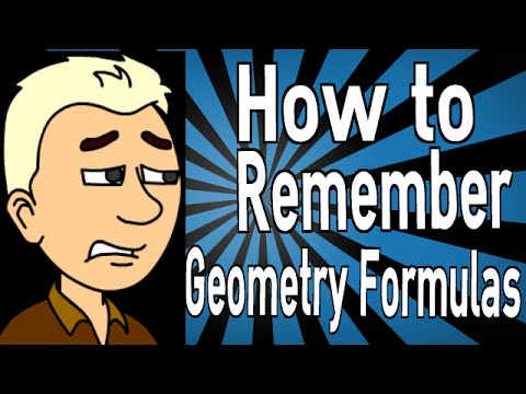 How to Remember Geometry Formulas
