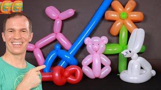 como hacer figuras con globos - globoflexia facil - gustavo gg