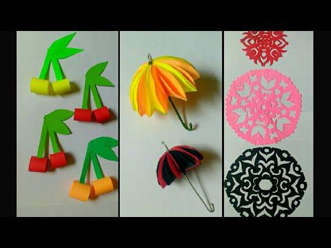 summer-craft-ideas-for-children-|-paper-cherry-|-paper-umbrella-|-easy-craft-idea-|-by-punekar-sneha