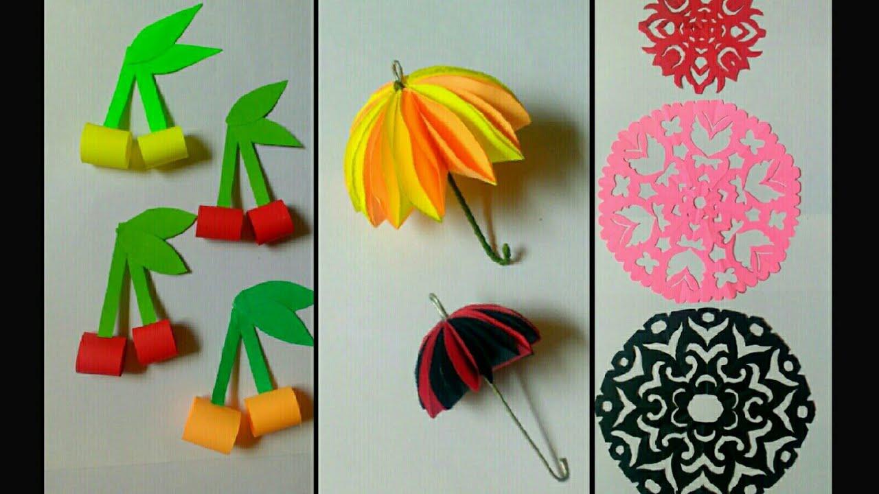 Summer Craft Ideas For Children Paper Cherry Paper Umbrella