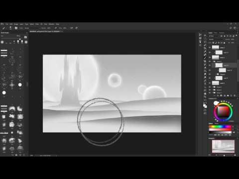 Photoshop Speedpaint: Alien Fantasy Landscape