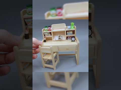 DIY  writing desk model tutorial  furniture Dollhouse desk#S