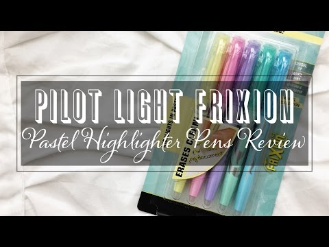 PILOT Light FRICTION Pastel Highlighter Pens First Impression and Review