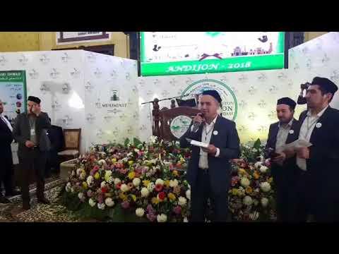 Qur'on musobaqasi Andijon viloyat bosqichi taqdirlash jarayoni.