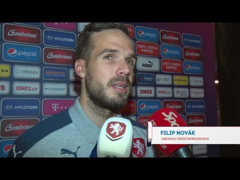 Lukáš Droppa a Filip Novák po zápase s Norskem