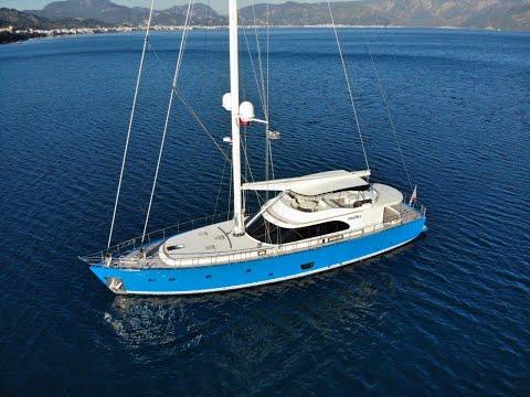 28 m MotorSailer yacht For Sale Interior Walkthrough