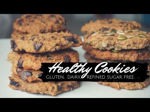 Healthy Gluten Free Cookies - Dairy Free, Vegan, Nut Free | Recipe - 4 Ways