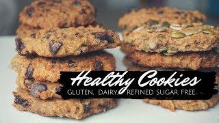 Healthy Cookies - Dairy Free, Gluten Free, Vegan, Nut Free   Recipe - 4 Ways