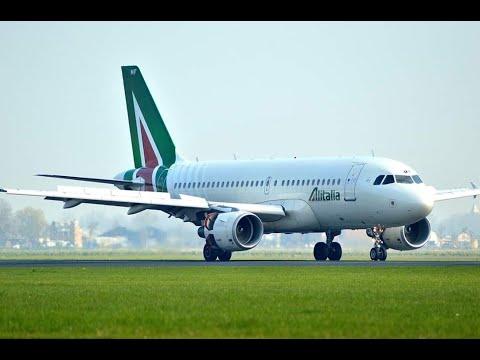A320NEO ALITALIA SAINDO DE TOULOUSE FRANCA A ROMA ITALIA REX-WEATHER FORCE 2020 + FACE TRACK