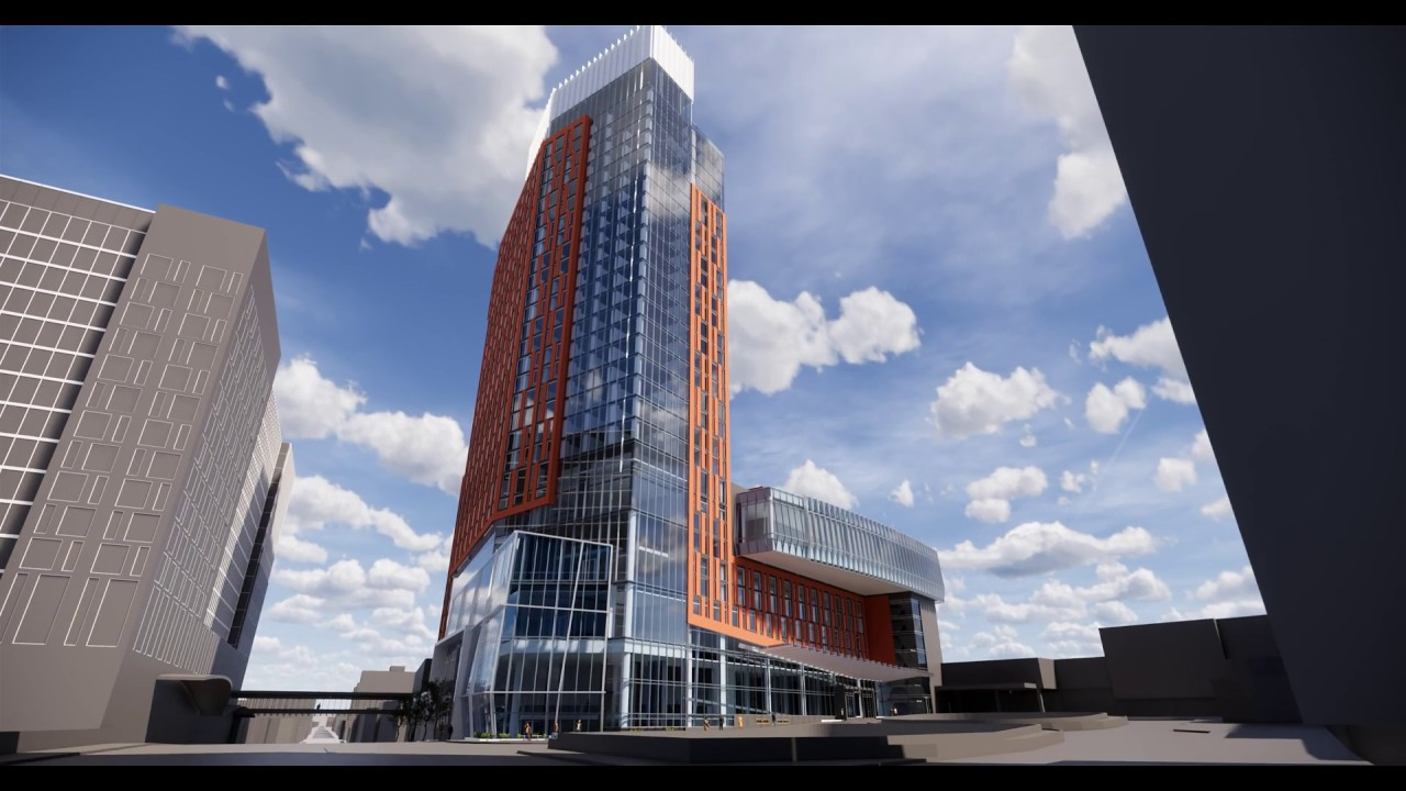 Hilton Columbus Downtown Expansion Exterior Rendering Youtube