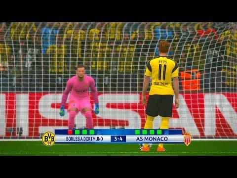 Borussia Dortmund vs AS Monaco - PES 2017 Penalty Shootout