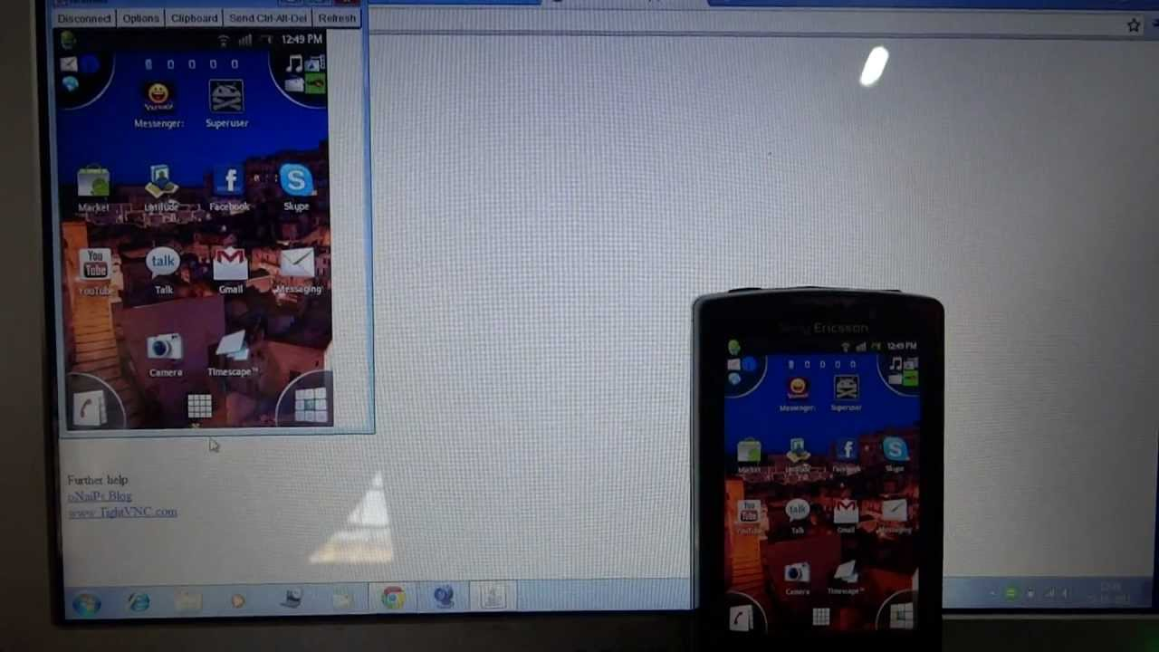 Remote your Android from PC with Droid VNC Server