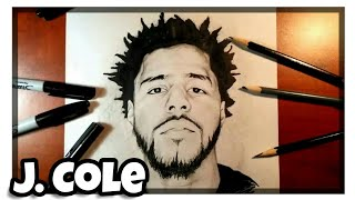 How to Draw J. Cole- Time Lapse Drawing