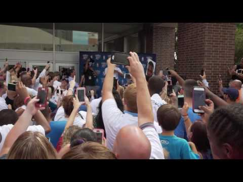 Russell Westbrook arrives at Chesapeake Energy Arena