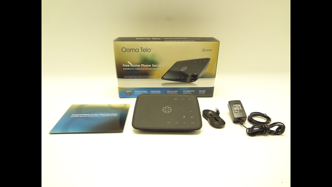 Ooma Telo Voip Phone With Hd2 Handset Youtube