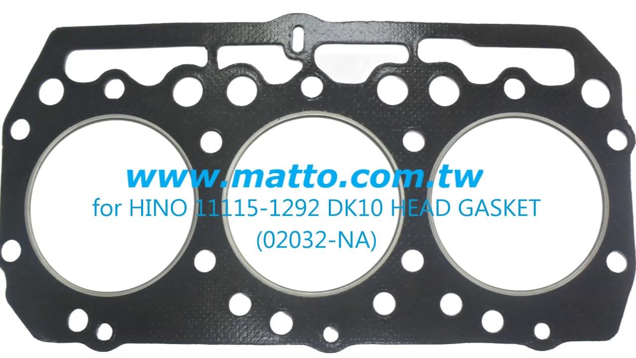 JadeZan New Cylinder Head Gasket Full Gasket Kit for Hino EL100 Engine