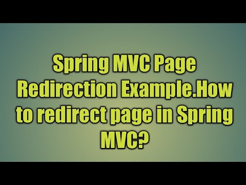 18 Spring MVC Page Redirection Example | Spring Web MVC redirect