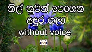 Nil nuwan pegena Karaoke (without voice) නිල් නුවන් පෙඟෙන අඳුර ගලා